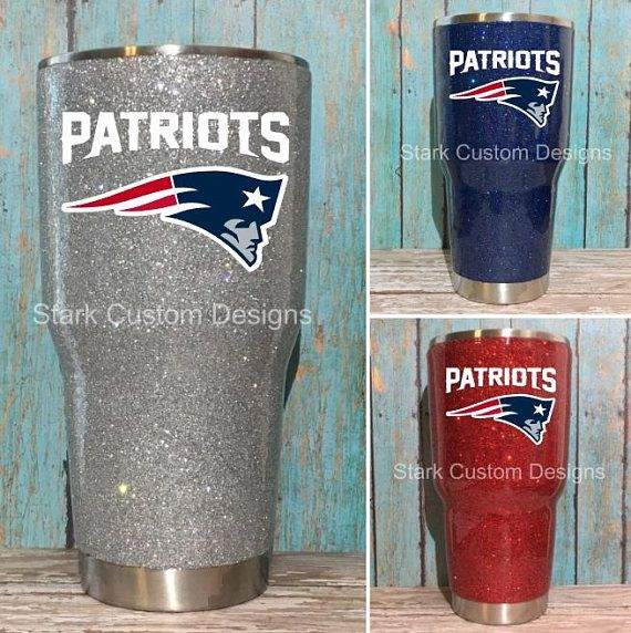 e43c9d4ad01 New England Patriots Inspired Glitter Tumbler - Yeti, Rtic, or Ozark - 30 oz.  or 20 oz. (sealed decal) Show the ultimate team spirit with this custom-made  ...