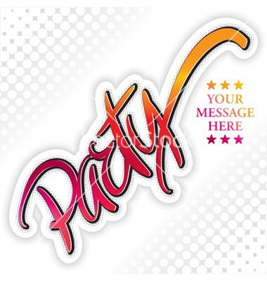 Party design vector 567200 - by letterstock on VectorStock ...