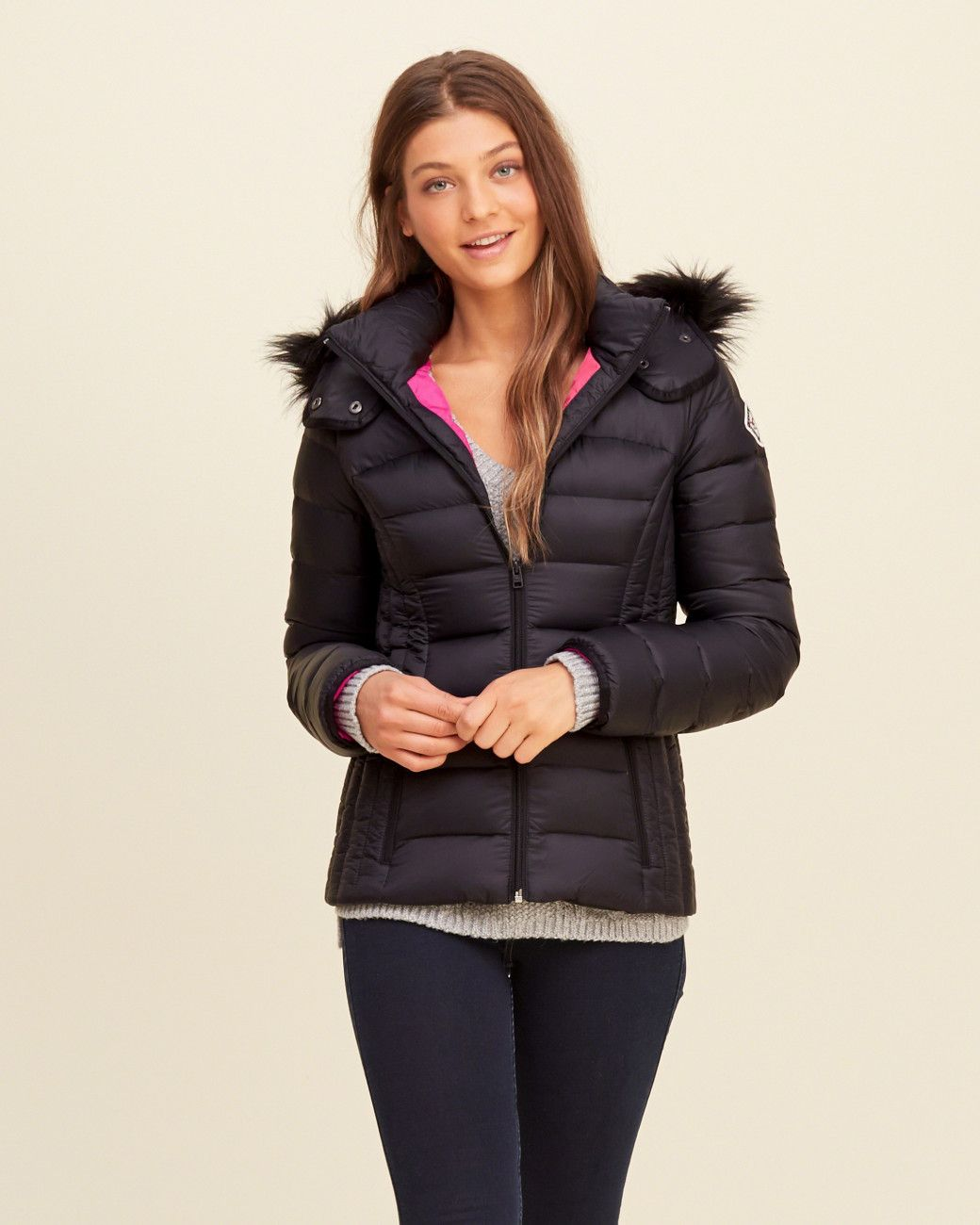 Hollister Multicolor Down Puffer Jacket Lyst Puffer Jackets Jackets Jackets For Women [ 1300 x 1040 Pixel ]