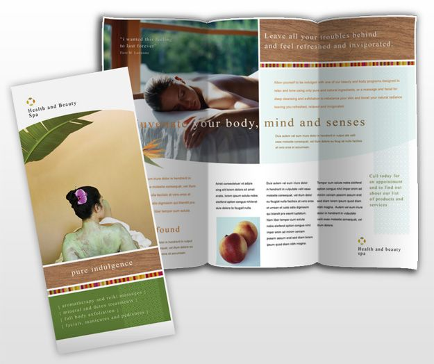 Health-And-Beauty-Spa-Brochure-Template | Dtp Ideas | Pinterest