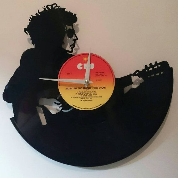 Bob Dylan Record Clock By High5design On Etsy Old Vinyl Records Bob Dylan Vinyl Records