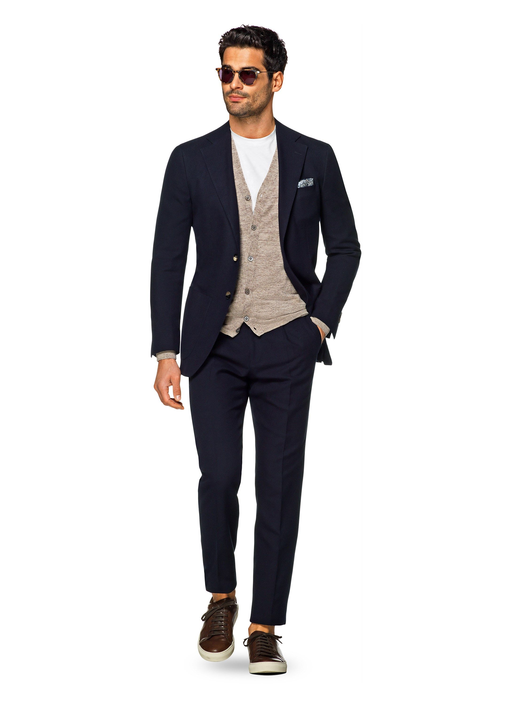 Suit Navy Plain Hudson P5156 | Suitsupply Online Store | Fashion ...