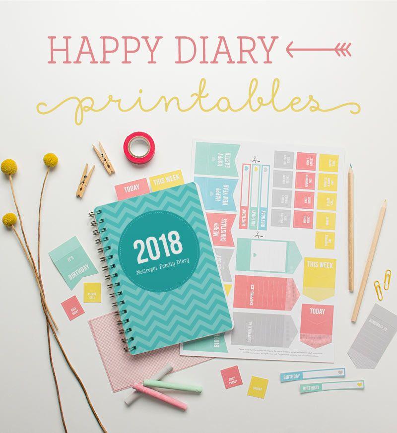 free diary printables happy paper crafts pinterest agenda calendrier et calendrier 2015. Black Bedroom Furniture Sets. Home Design Ideas
