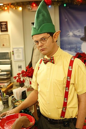 dwight at the office christmas party scranton branch - The Office Christmas