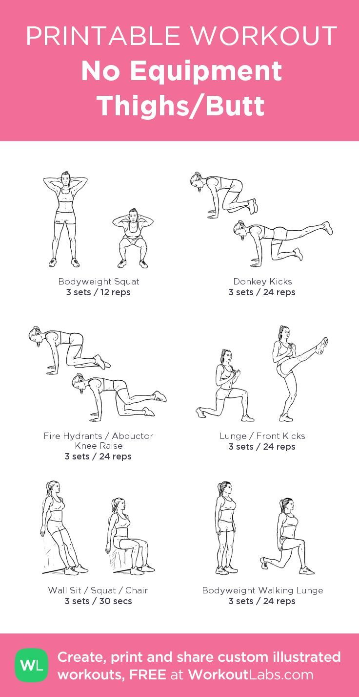 No Equipment Thighs/Butt: my visual workout created at ...