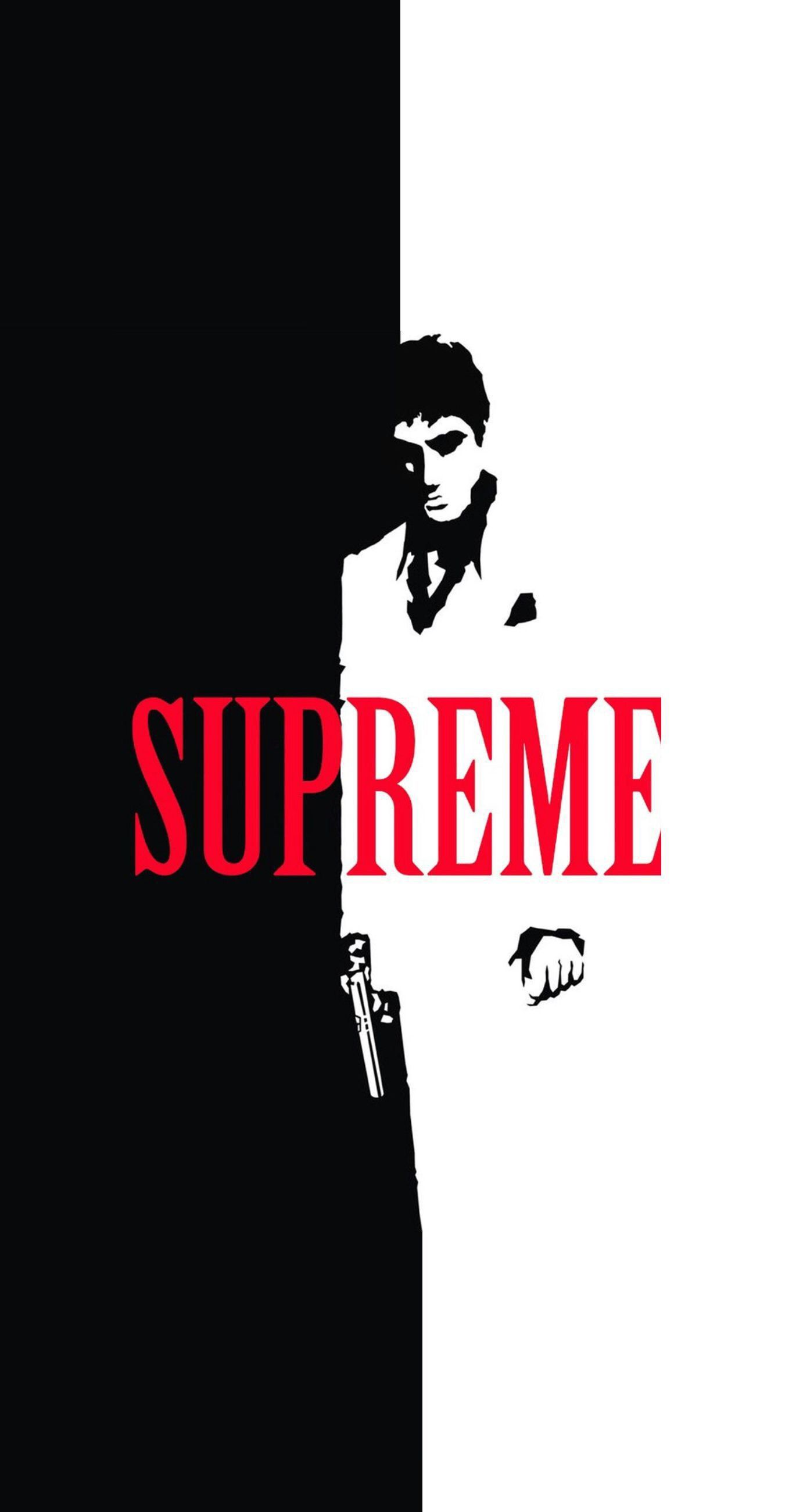 Scarface X Supreme Split Iphone Wallpaper Supreme Iphone Wallpaper Supreme Wallpaper Bape Wallpaper Iphone
