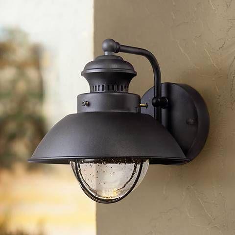Rustic Black Outdoor Wall Lights