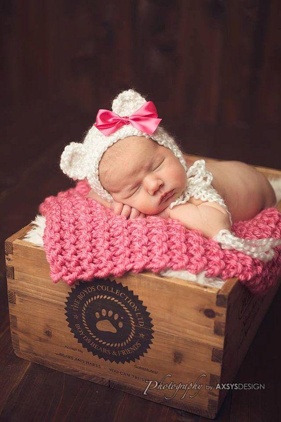 Crochet Newborn Baby Boy Girl Christmas by StephaniesPropShop