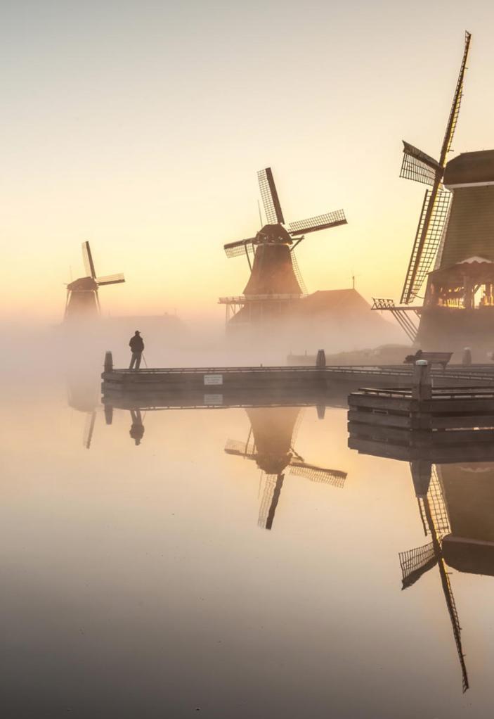 Morning fog - Kinderdijk, The Netherlands