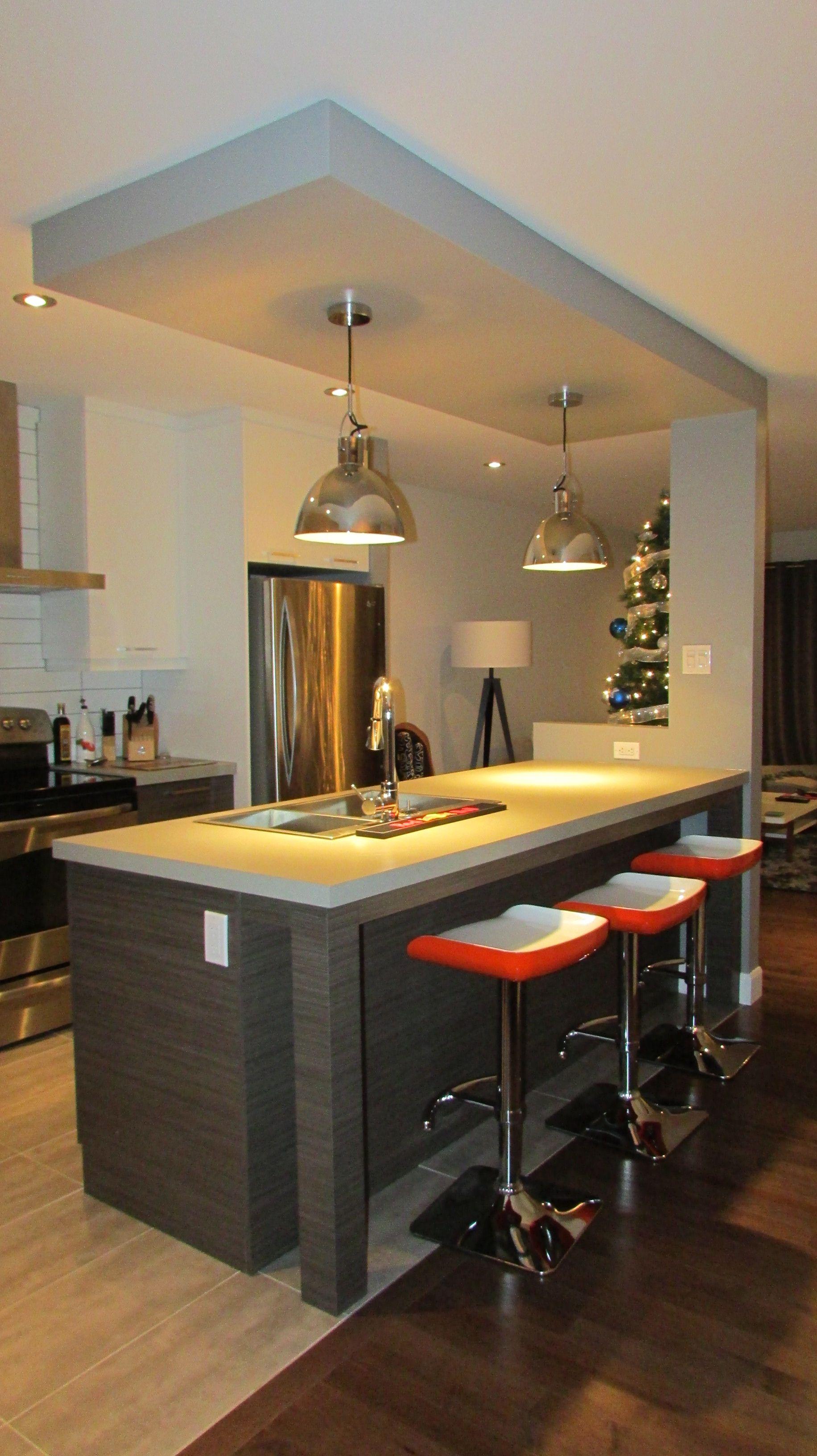 cuisine de style contemporain armoires en m 233 lamine droite