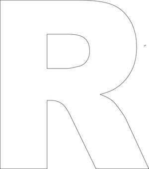 free printable upper case alphabet template bebés pinterest