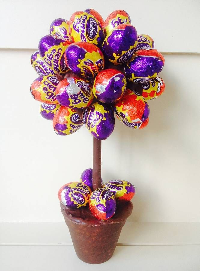Cadbury creme mini egg tree by sweet trees How to make an easter egg tree