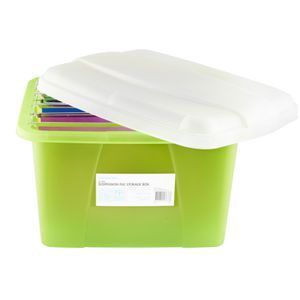 J Burrows Porta Box and 5 Suspension Files Green | Officeworks  sc 1 st  Pinterest & J Burrows Porta Box and 5 Suspension Files Green | Officeworks ...