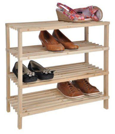Xxxl Schuhregal Mit 4 Boden Helles Holz Schuhstander Schuh Regal