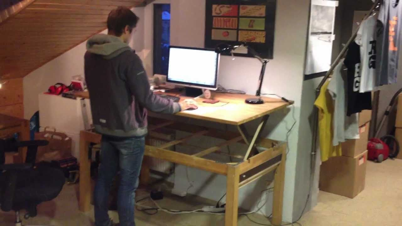 demo 1 diy liftable stand up rising desk table asketic