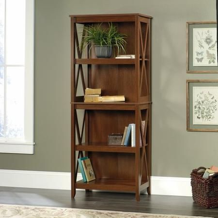 Better Homes And Gardens Maddox Crossing 4 Shelf Bookcase Cognac