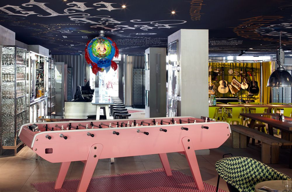 long foosball table design Google Search Mama shelter