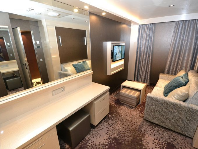 First Look Inside The New Norwegian Escape S Swankiest Suites Norwegian Escape Suites Escape