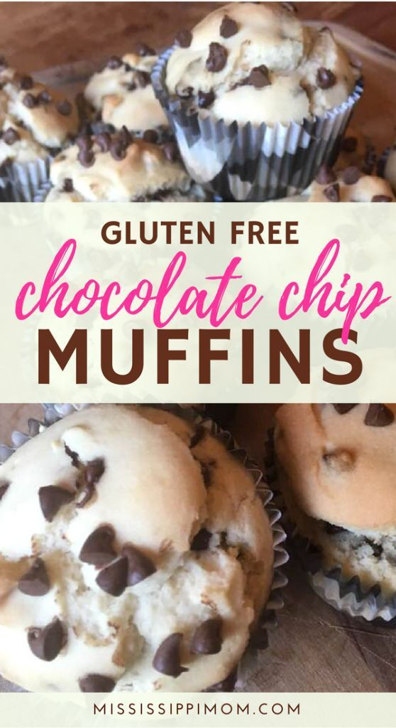 How to Bake Gluten Free Chocolate Chip Muffins #glutenfreebreakfasts