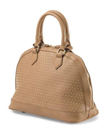 Studded Dome Satchel - Handbags - T.J.Maxx  (color?)  http://tjmaxx.tjx.com/store/jump/product/handbags/Studded-Dome-Satchel/1000023962?colorId=NS1003537
