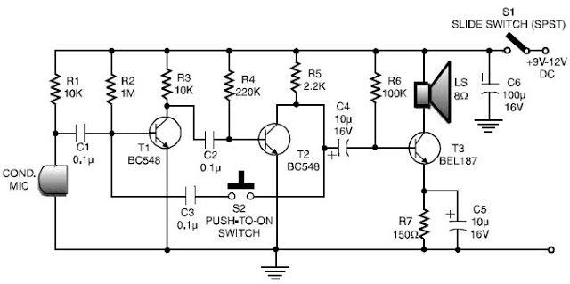 Circuit Of Walkie Talkie Complete With Both Diagram Image