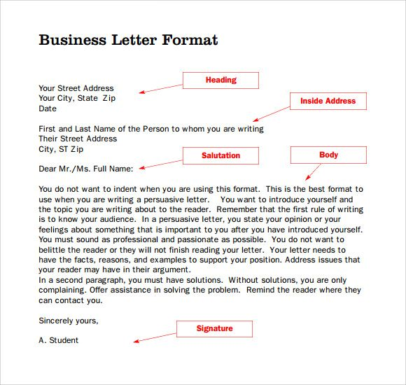 Parts Business Letter Download Free Documents Pdf Ppt Assignment