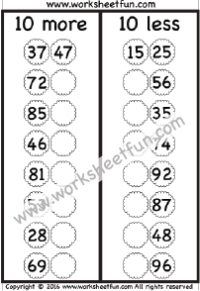 Adding And Subtracting Tens One Worksheet Free Math Printables Free Math Worksheets Free Printable Worksheets