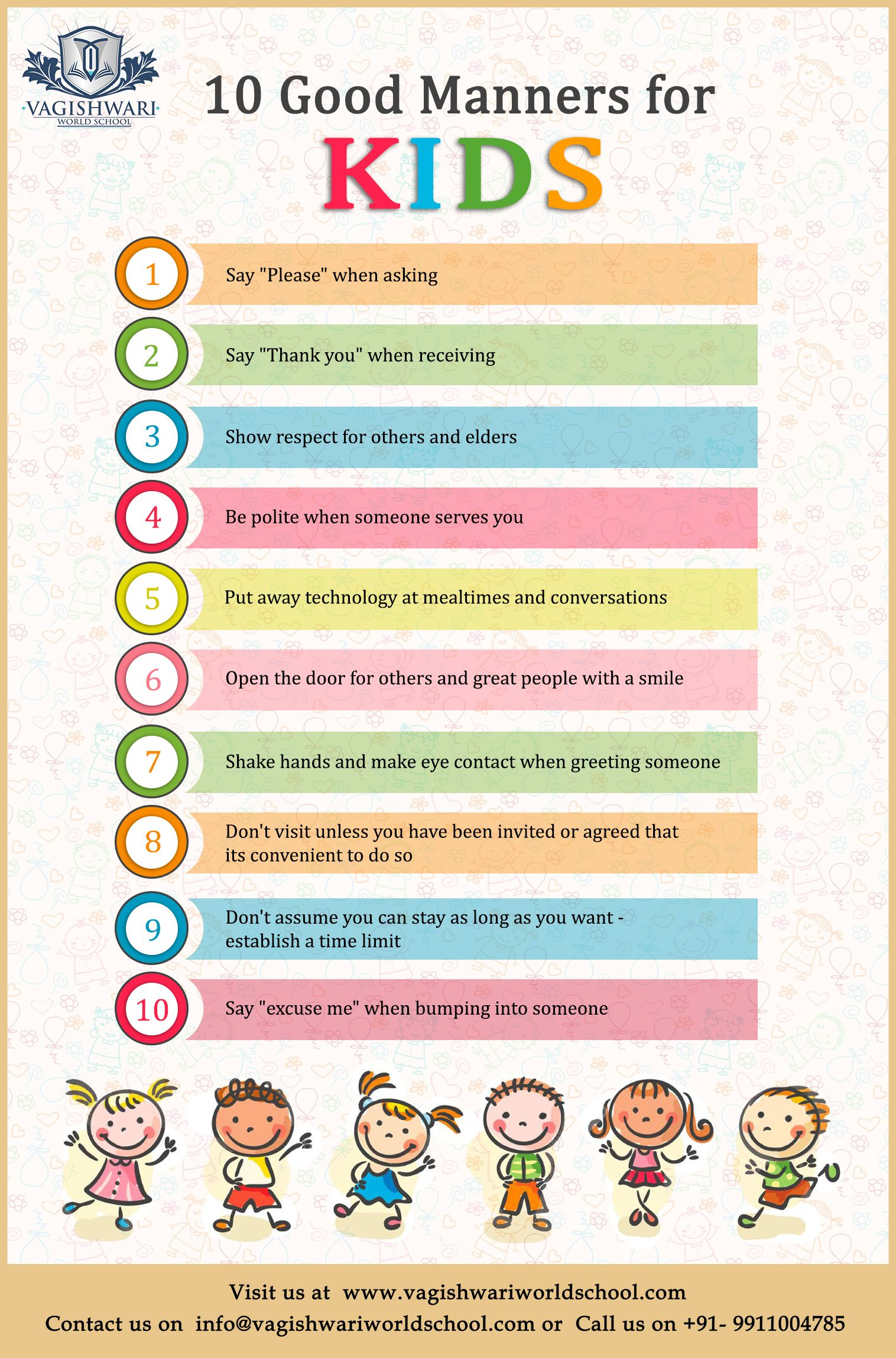 10 Good Manner For Kids Manners Morals Commonsense