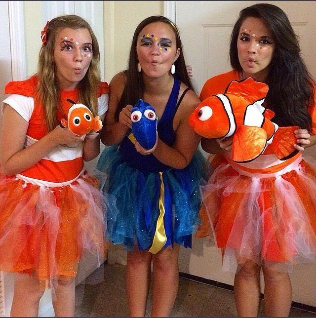 Nemo and Dory costume! #bffhalloweencostumes