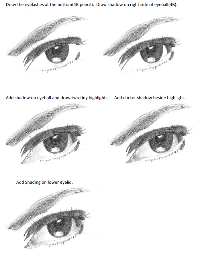 how to draw a rel eye
