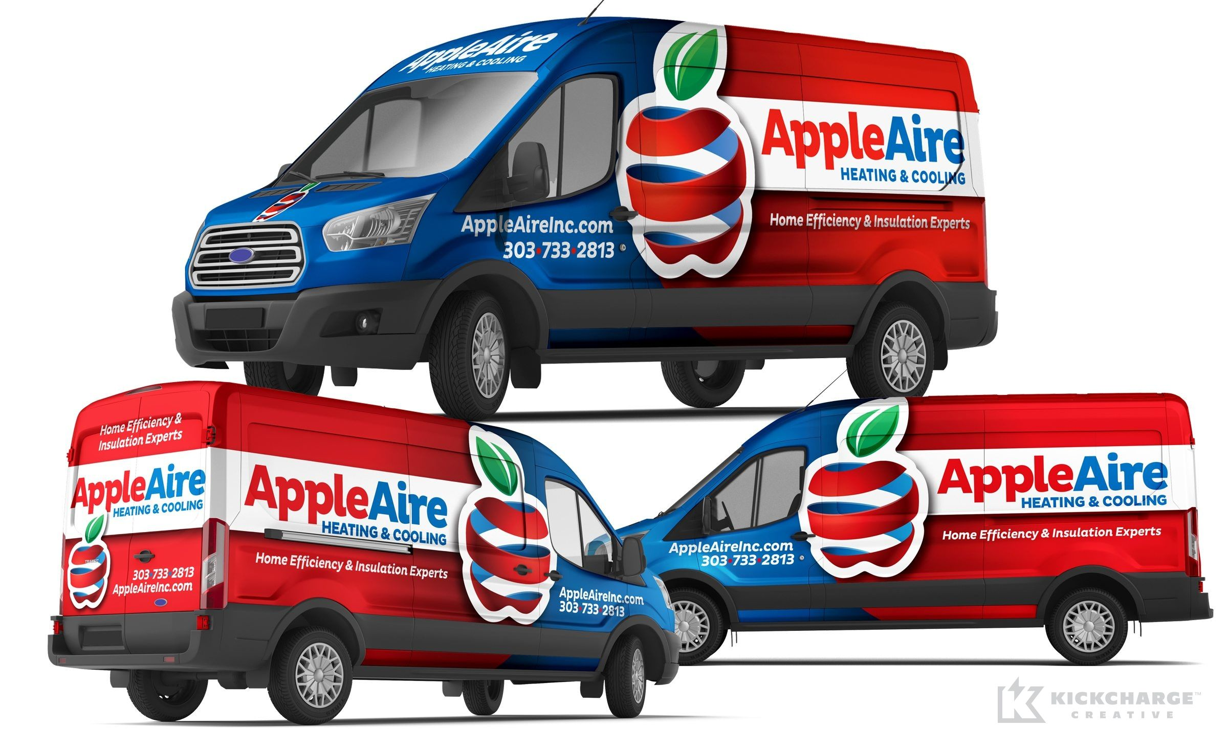 Vehicle Wrap Design For Appleaire Heating Cooling Nj