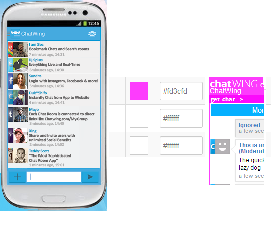 Chatwing Android Chat App website chat tools embed