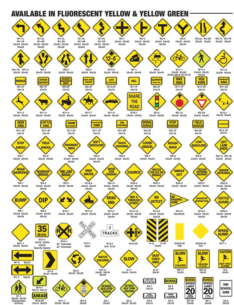 Road Warning Signs And Their Meanings Warning Signs | GD4_A1...