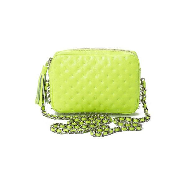 Neon Yellow Rebecca Minkoff Bag ❤ liked on Polyvore featuring bags and handbags