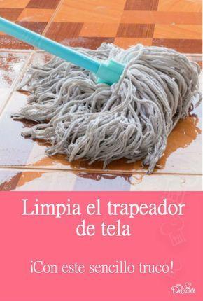 Aprende a limpiar un trapeador de TELA con este truco