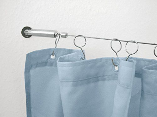 Wire Shower Curtain Rod Kit 19685in 500cm Chrome Check Out The