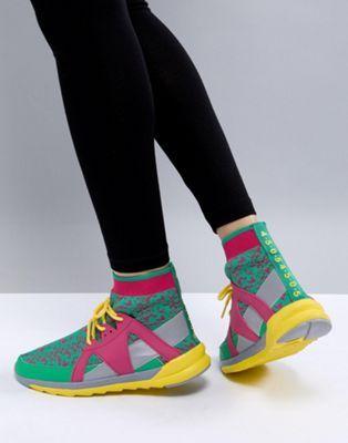 Zapatillas de deporte multicolor con detalle estilo calcetín de ASOS 4505 Asos HnfmvJJhJm