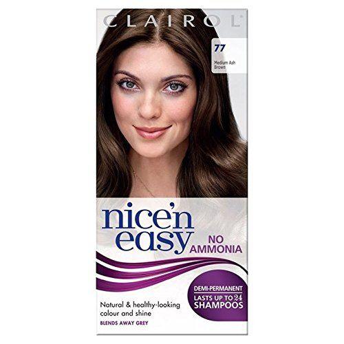 Introducing Nice N Easy No Ammonia Hair Dye Medium Ash Brown 77