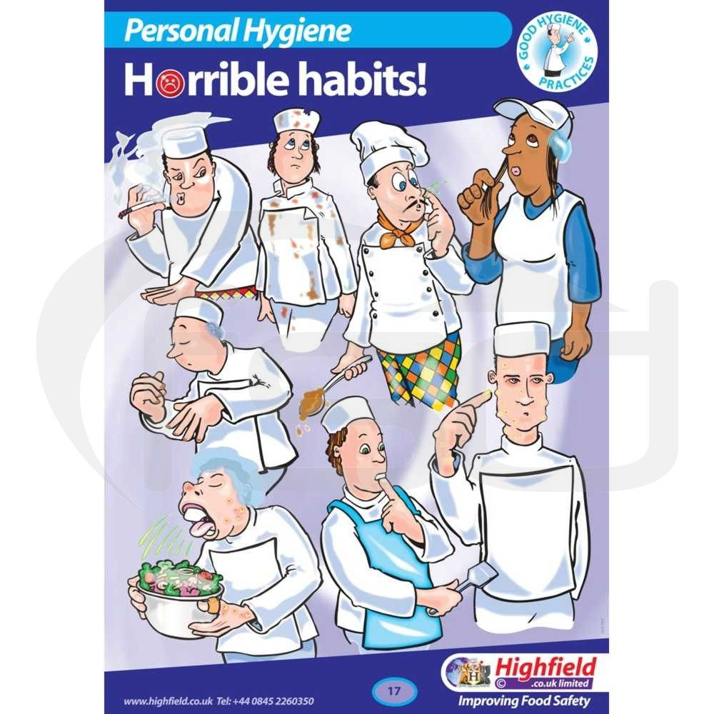 Personal Hygiene - Horrible Habits | Food safety, Food ...