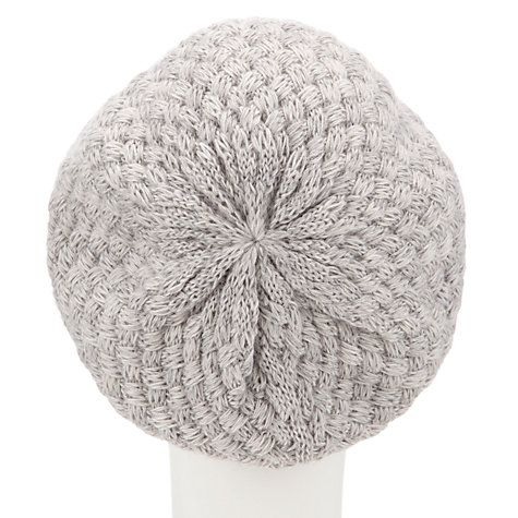 Buy John Lewis Basket Weave Beanie, Grey Online at johnlewis.com