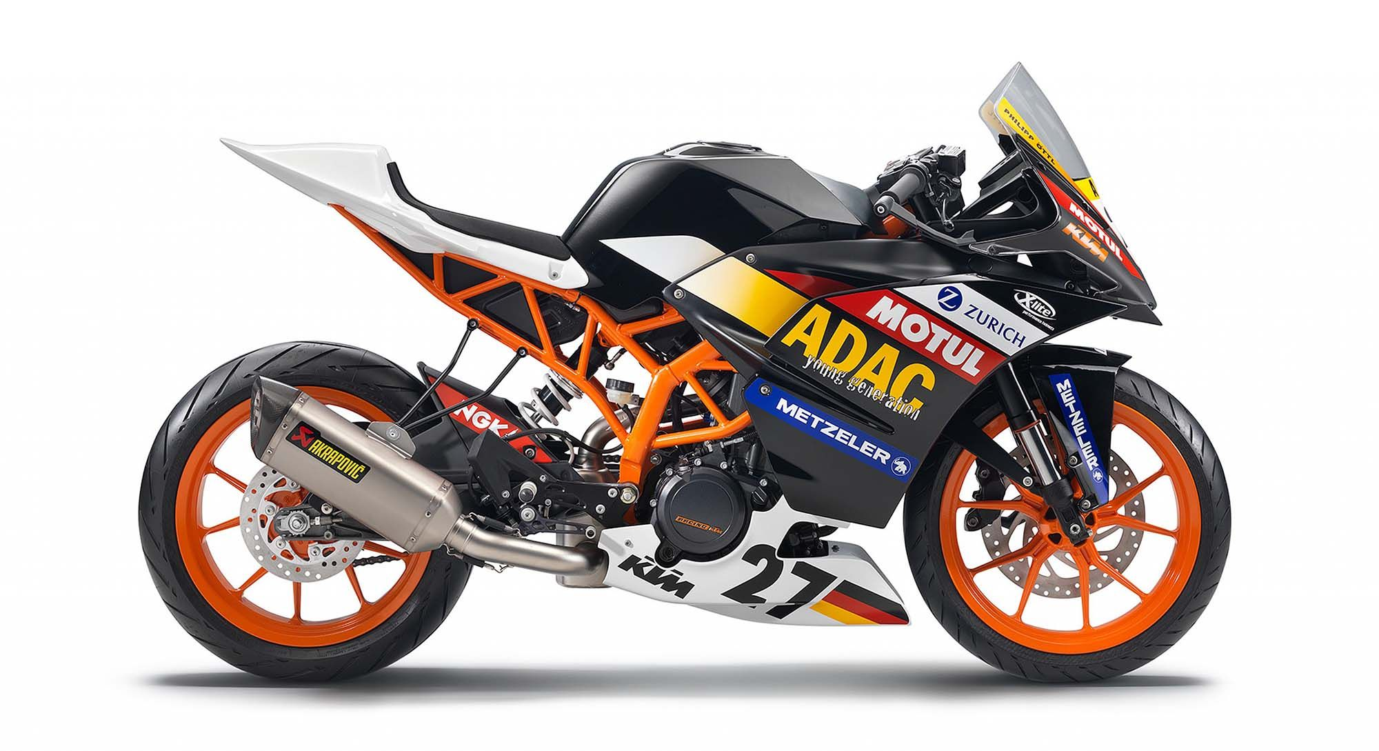 2014 ktm rc390 cup a glimpse of what s to come