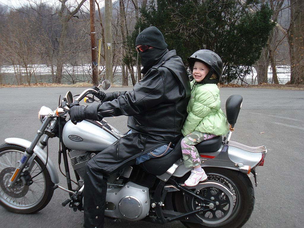 Riding in the winter.