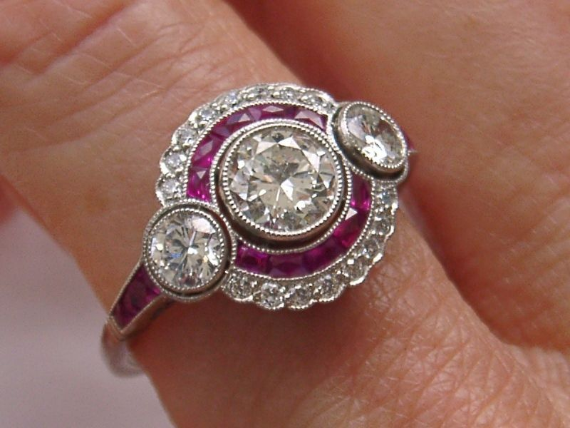 ESTATE ART DECO 1.25ct OLD DIAMOND RUBY ENGAGEMENT RING Ebay Seller Melonypino  (800×600)