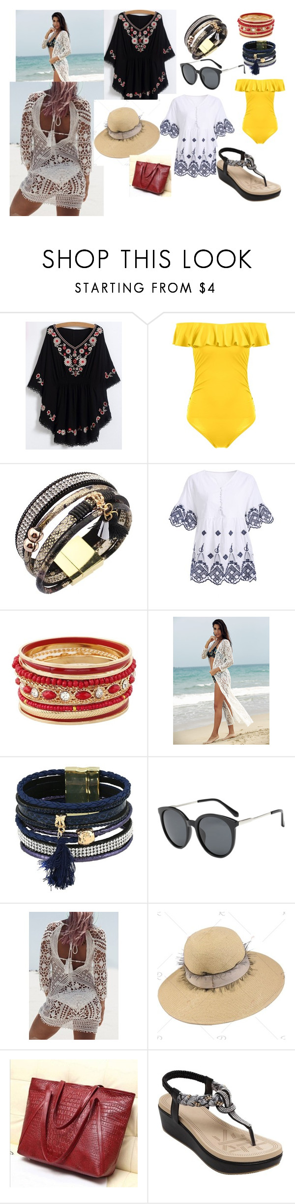"""vamosalaplaya ROSEGAL"" by melisaa95 on Polyvore featuring moda"