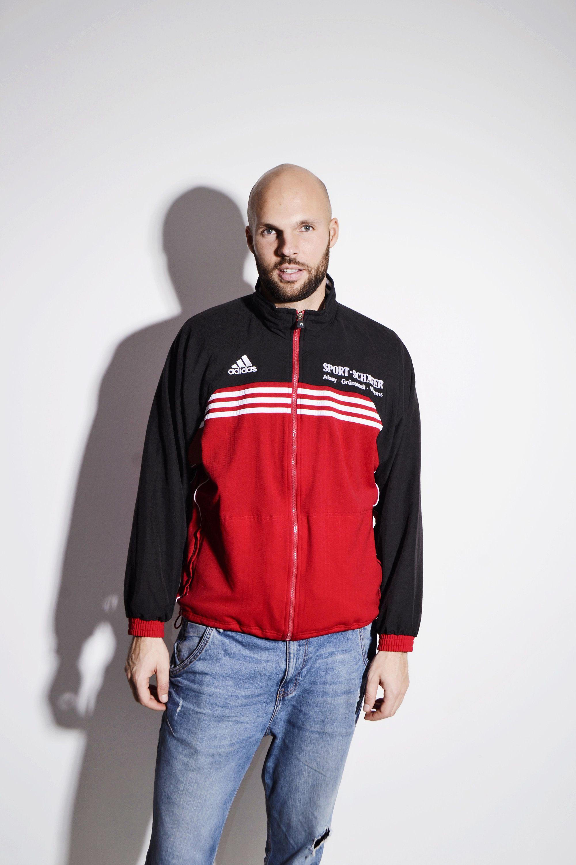 aa6c5b4cb0 Old School ADIDAS red track jacket | 90s style vintage full zip ...