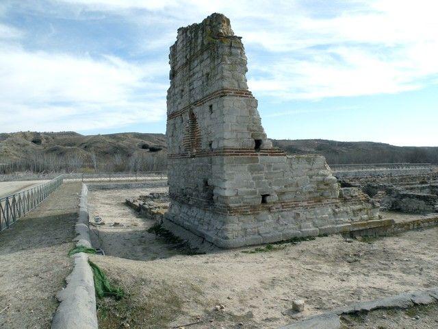Villa Romana de Carranque. 'Palatium': detalle de los restos de la cabecera