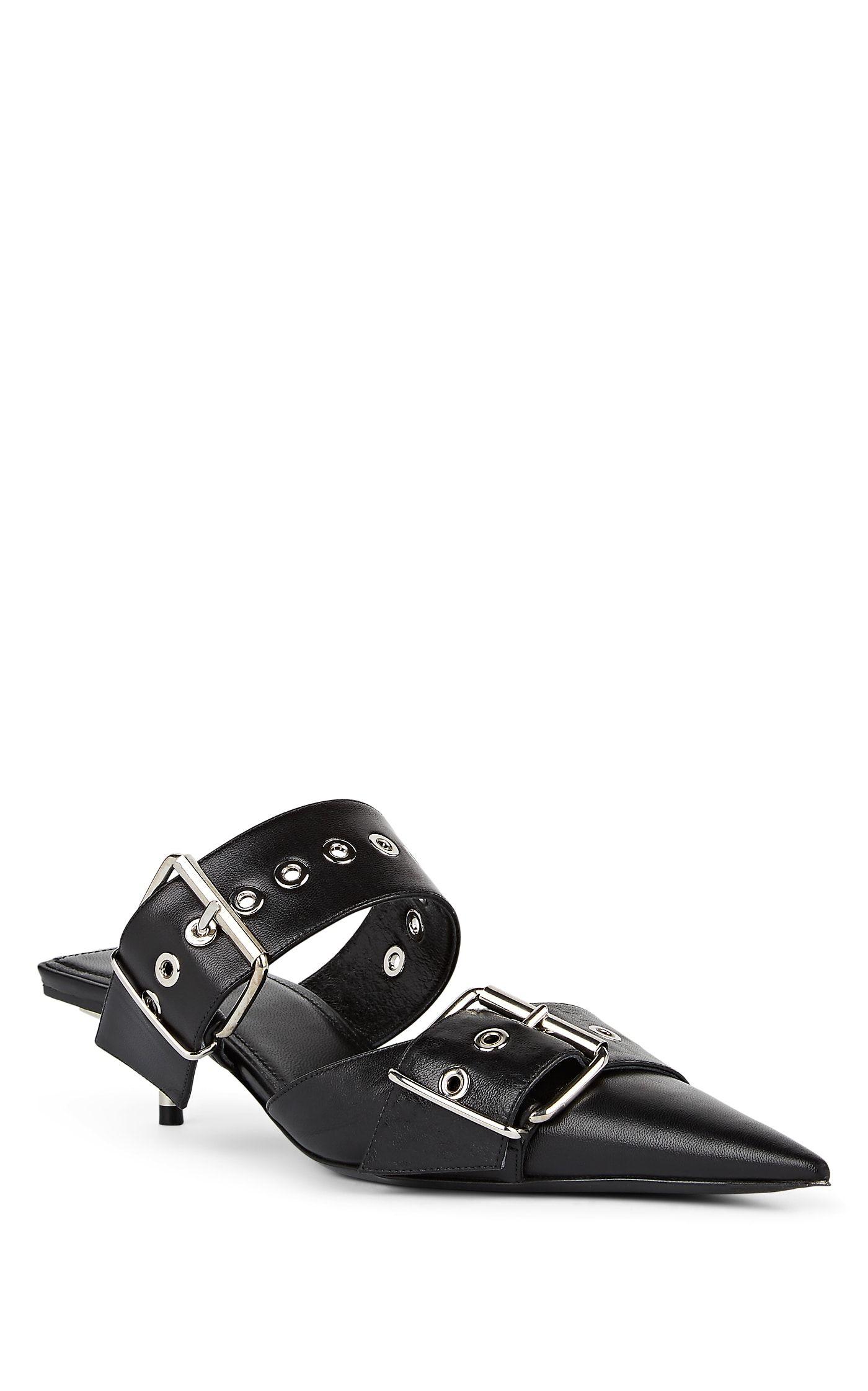 e5801958125f Balenciaga Buckle-Strap Leather Mules