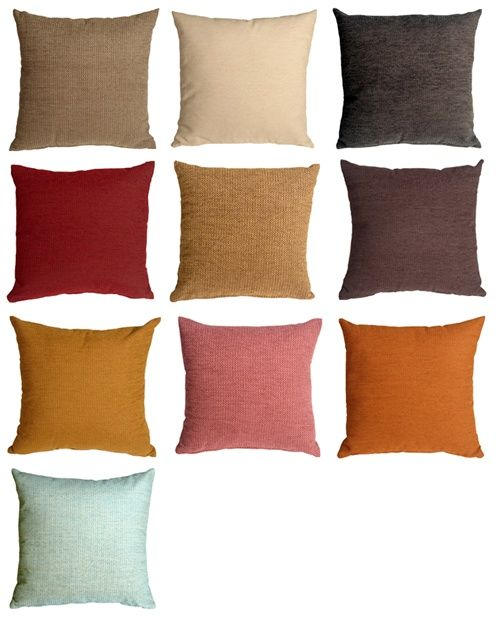 Arizona Chenille 20x20 Solid Color Throw Pillows