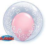 """Balloon: 24"""" Fancy Filigree Bubble Balloon  - EACH"""