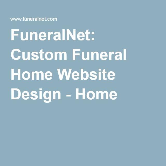 FuneralNet: Custom Funeral Home Website Design   Home